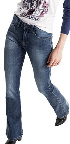 Donna 9383 His 9383 Sunny Jeans Bootcut Blue Premium Blau Medium Wash qHwAXtxFwa