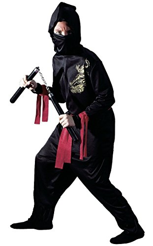 Ninja Child Costume Black - Medium - Child Black Ninja Costumes