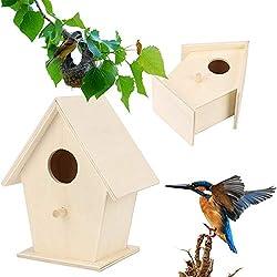 Gold Happy Bird Cages Nests DOX Nest House Bird House Bird Box Wooden Box Decorative