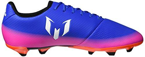 adidas Messi 16.3 Fg J, Botas De Fútbol para Niños Azul (Blue / Ftwr White / Solar Orange)