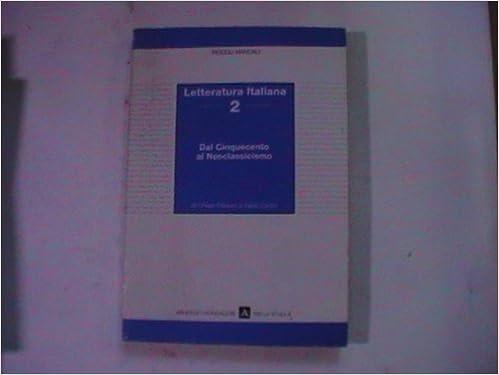 Amazon.com: Letteratura Italiana 2 (Piccoli Manuali 5 ...