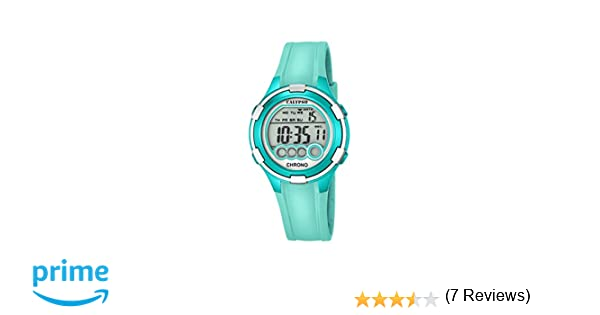 Calypso Mujer Reloj Digital con Pantalla LCD Pantalla Digital Dial y Correa de plástico Turquesa K5692/7