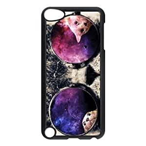 aqiloe diy iPod 5 Case,Space Cat Hard Snap-On Cover Case for iPod Touch 5, 5G (5th Generation)