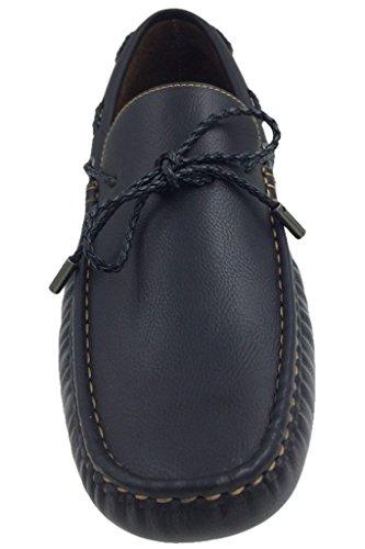 Mecca Zapatillas Slip-on Loafer Con Cordones Para Barcos, Color Negro