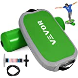 VEVOR Balance Board Standing Desk Exercise Balance Board Adjustable Pressure Inflatable Balance Board Adults and Children Physical Therapy Home or Outdoor(Green)