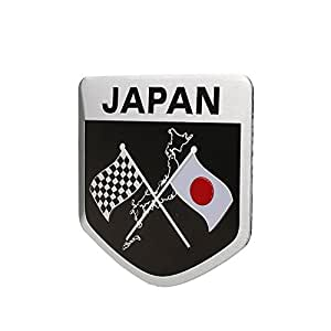 Sedeta® forma de escudo Coche Vhiecle que diseña la insignia japonesa del emblema de la prenda impermeable del metal eti