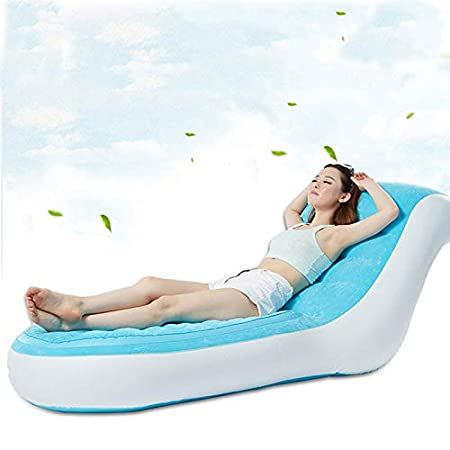 GSS-Air - Sofá Cama Individual Inflable (170 x 84 x 81 cm), Color Azul: Amazon.es: Jardín