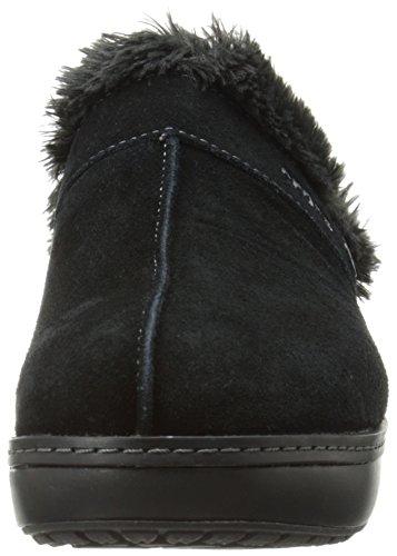 Crocs - Zapato de cuero del zapatero de la Mujer Clog - Black/black