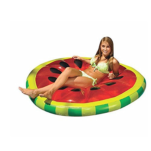 Inflatable Furniture Lounge, Bright Colors, Premium Quality, Ideal For Any Pool, Perfect For Adults, Safe And Comfortable, Watermelon Print, Sturdy & Durable Construction & E-Book Home Decor from Sen