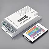 LEDwholesalersTM IR Music Controller 60 Watt 3 Ports With Remote for Color Changing LEDs,3322RGB, Best Gadgets