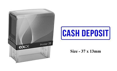 CASH DEPOSIT Self Inking Rubber Stamp Colop Office Stationary Custom Stamp ()