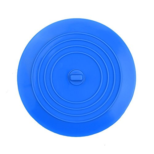 FIZZE Silicone Tub Plug and Drain Plug for up to 4inch Drain Holes in Kitchens, Bathrooms & Laundries (Blue)