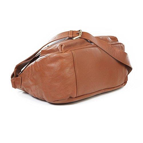Mali Cuero Slouchy Messenger Bag Marrón