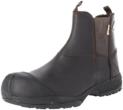 Amazon.com: Men's Dawgs 6-inch Pull-On Prolite Safety Boots ...