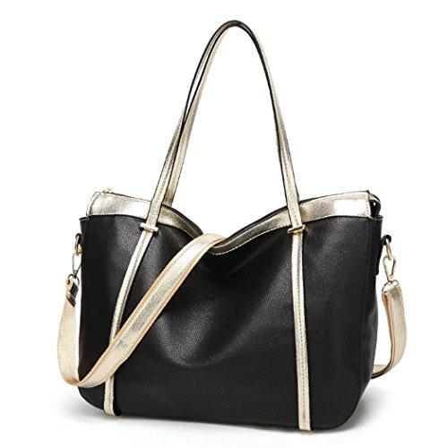 cfc0efd406 Naerde stile europeo di moda nuovo Messaggero grande borsa signore borsa  borsette femminili per le donne nero