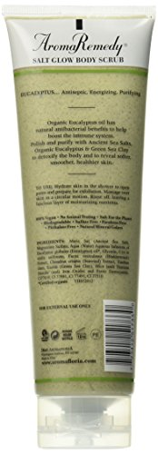 31pcJSNgE0L Aromafloria Aromaremedy Collection Salt Glow Scrub, Eucalyptus/Tea Tree/Geranium/May Chang/Sandalwood, 12.0 Ounce