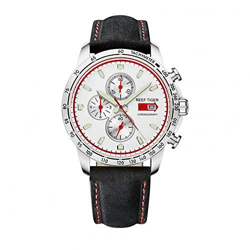 - LiBetyd RT Sport Watch for Men Chronograph Quartz Watch with Italian Calfskin Leather and Super Luminous Watch-RGA3029YWB