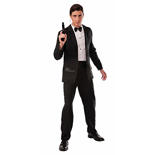 Forum Novelties Men's Secret Agent Deluxe Costume Tuxedo, Multi, One Size - Tuxedo Costumes