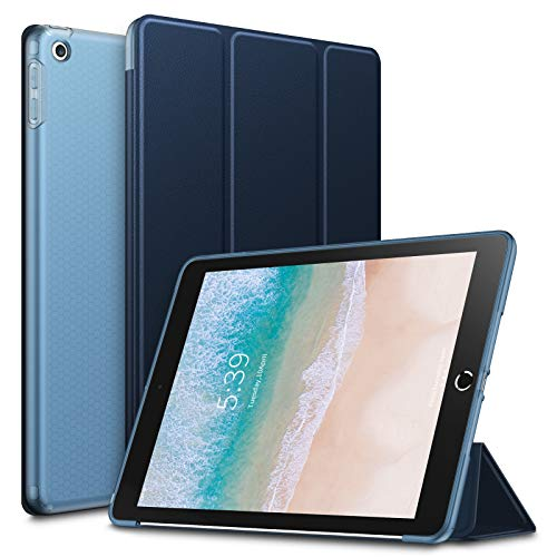 Infiland New iPad 9.7 2018 2017 Case - Shockproof Smart Slim Case with Flexible Soft TPU Back Protector Cover for Apple iPad 9.7 Inch 2018 2017 Released (Auto Wake/Sleep), Navy