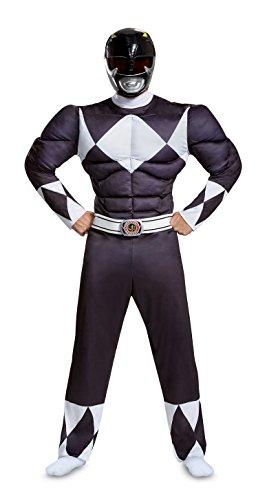 Disguise Men's Plus Size Black Ranger Classic Muscle