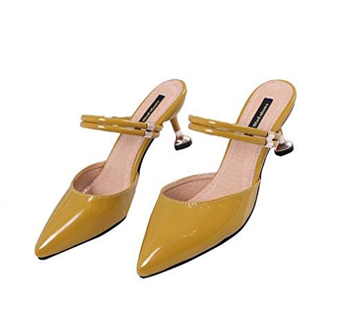 Femmes Sandales Yellow À Talons YUCH pour wP0AxwH