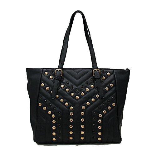 Marina Galanti Shopper Model Modèle Mia Bag Avec Clous Et Pierres Noires