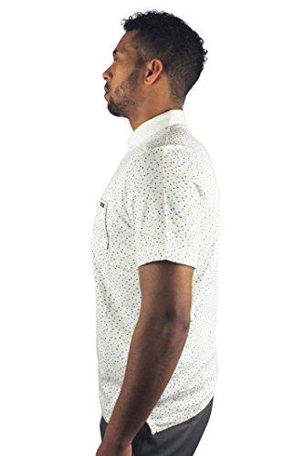 Duck & Cover dac5h0083Ubos Flying Ducks Herren Kurze Ärmel Polo Shirt Weiß