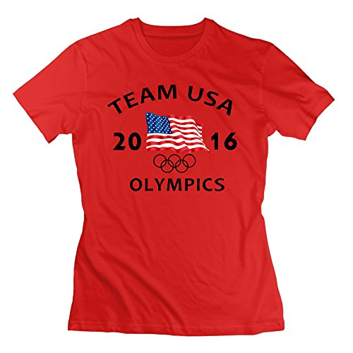HappWan Women's USA 2016 OLYMPICS T-shirt