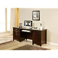kathy ireland Home by Martin Tribeca Loft Cherry Computer Credenza - Fully Assembled