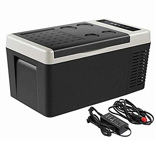 Portable Refrigerator 20 Quart (18 Liter) Car, Truck, RV, 28 Cans Mini Fridge Freezer (-7.6℉~50℉) Rapid Cooling Quiet 12/24V DC and 110-240 AC, Electric Cooler for Home, Outdoor Travel, Camping