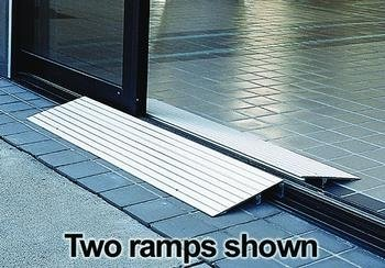 EZ-ACCESS Threshold Ramps - 4'' x 22¼'' x 34'', 3¾'' - 4¼'' Rise, 11 lb - 1 Each