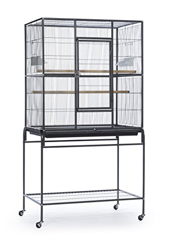 - Prevue Pet Products Wrought Iron Flight Cage with Stand, Black Hammertone