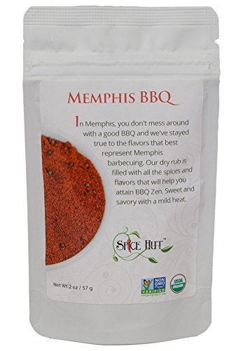 The Spice Hut Organic Memphis BBQ Seasoning, Southern Grilling Sweet & Savory Spice Blend, 2 ounce