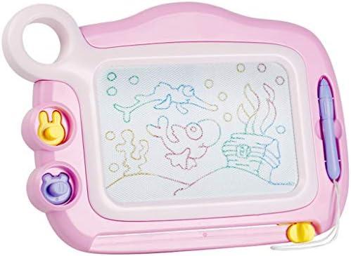 クリスマス用磁気製図板、ゲーム玩具マグナ落書き消去可能なカラフルな製図板、ライティングスケッチパッド、ギフト (Color : Pink)