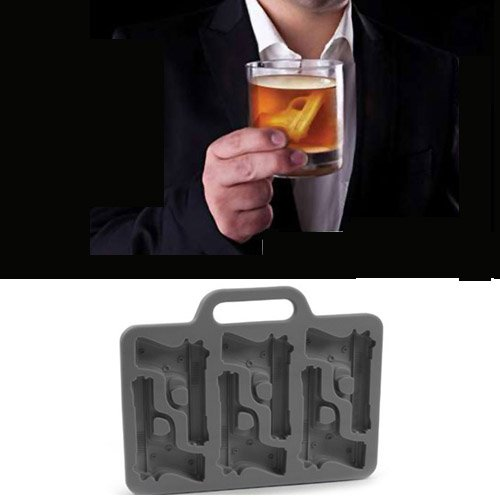 Gadgets Novelty TPR Household Party Gun Shaped Freeze Ice Mold Tray - Random Color - Lifestyle Gadgets