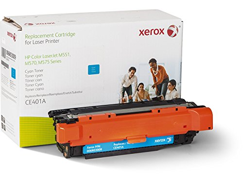 Xerox Remanufactured Cyan Toner Cartridge, Alternative for HP CE401A 507A, 6000 Yield (006R03009) (Laser Tnr Color)