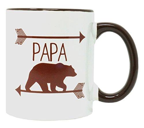 Funny Guy Mugs Papa Bear Ceramic Coffee Mug, White, 11-Ounce Bear Ceramic Coffee Mug