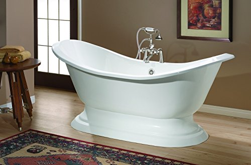 (Cheviot Products Inc. 2151-WC-6-Toasted Chestnut Customized REGENCY Cast Iron Bathtub with Pedestal Base, 6