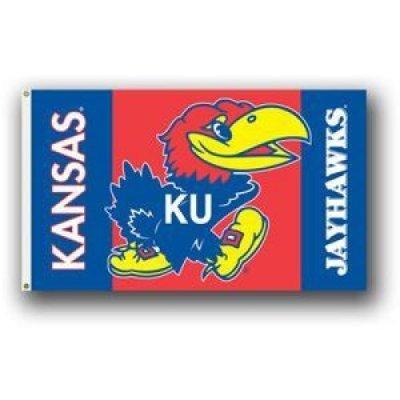 NCAA Kansas Jayhawks 3-by-5 Foot Flag with Grommets