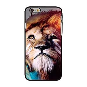 """For iPhone 6 Plus Case, Fashion Lion Head Pattern Protective Hard Phone Cover Skin Case For iPhone 6 Plus (5.5"""") + Screen Protector hjbrhga1544"""