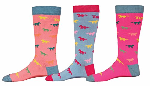 TuffRider Neon Pony Kids Socks - 3 Pack
