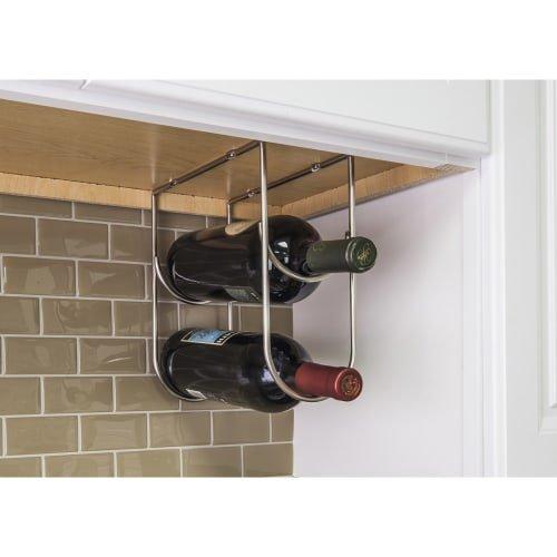 under cabinet wine rack nickel - 6
