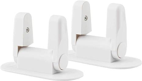 Surplex 2 Pack Cierres de seguridad para puerta de bebé niños puertas y asas de seguridad para armario de cocina con Adhesivo 3M Fuerte (Blanco): Amazon.es: Bebé