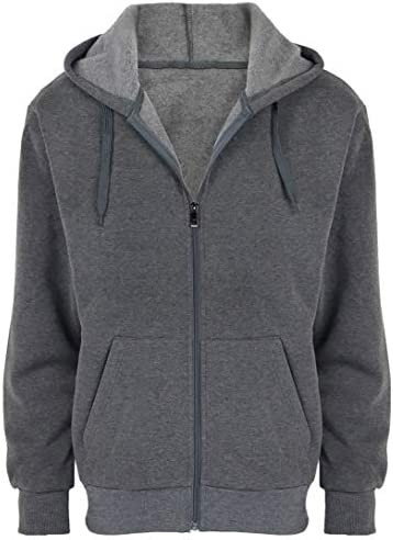 Fleece Hoodies for Men Zipper Lightweight Spring Long Sleeve Active Mens Jackets Sports Full Zip Sweatshirts