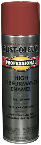 Rust-Oleum 7565838 Professional High Performance Enamel Spray Paint Regal Red 15-Ounce
