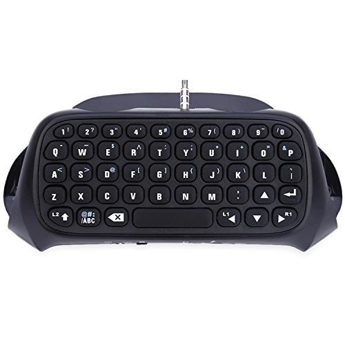 GB-Tech Mini Wireless Bluetooth Keyboard for PS4 Playstation 4 Controller ,TP4 - 008 (Black)