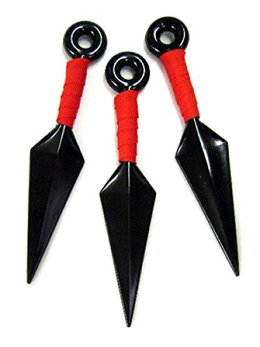 Ninja Toy Weapons (Oliasports Set of 3 Ninja Weapons Props Big Kunai Plastic Toy)