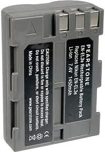 حزمة بطاريات ليثيوم أيون EN-EL3e (7.4 فولت 1450 مللي أمبير) من Pearstone