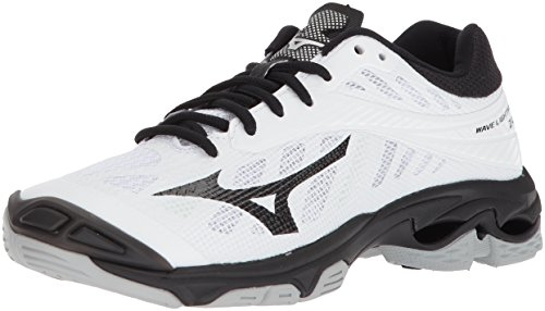 Image of Mizuno Wave Lightning Z4 Volleyball Shoes, White/Black, Women's 8 B US
