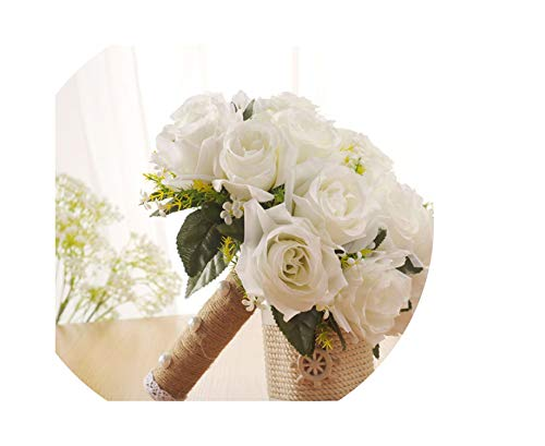 Charm Bridal Bouquet Handmade Bride Bouquets Decorative Artificial Flowers Bridal Wedding Bouquets Romantic Bride Bouquets